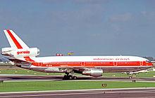 Garuda indonesia wikipedia douglas dc 10 30 of garuda indonesia at amsterdam airport in 1977 stopboris Choice Image