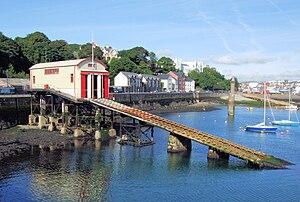 Royal National Lifeboat Institution - Lifeboat station and slipway at Douglas, Isle of Man