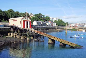 Royal National Lifeboat Institution - Lifeboat station and slipway at Douglas, Isle of Man