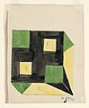 Drawing, Design for Tablecloth with Green and Yellow Squares on Black Ground, 1911 (CH 18684897).jpg