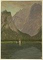 Drawing, Koenigsee, near Berchtesgaden, Bavaria, 1868 (CH 18199513).jpg