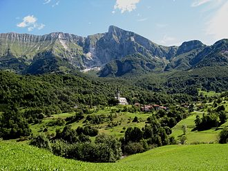 Slovene Littoral - Image: Drežnica village Slovenia