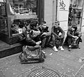 Dream Team (Boys sitting along the street in Naples) - Mario Mancuso.jpg