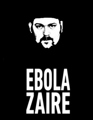 """Drew Hayes - Drew Hayes wearing his infamous """"Ebola Zaire"""" T-Shirt"""