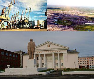Dudinka Town in Krasnoyarsk Krai, Russia