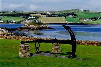 Dunfanaghy - A disused anchor on display in the centre of the village