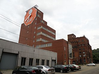 Duquesne Brewing Company - The clock, with AT&T logo on the face