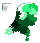 Dutch provinces by nominal GRP in 2016