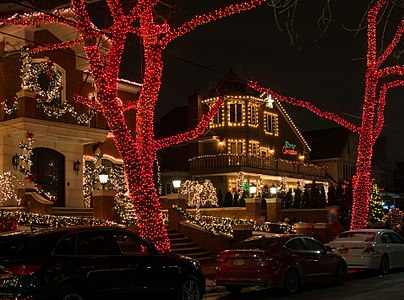 Christmas lights in Dyker Heights, Brooklyn