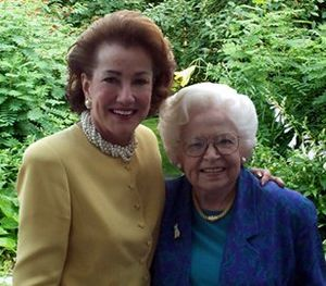 Elizabeth Dole - Elizabeth Dole with friend and mentor Virginia Knauer. Mrs. Knauer ran the White House Office of Consumer Affairs in the Nixon Administration, where Dole served as a deputy assistant to the President.