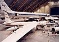 ER-2 809 and DC-8 in Arena Arctica hangar in Kiruna, Sweden prior to the SAGE III SOLVE (EC00-0037-1).jpg