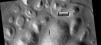 Daedalia Planum - Image: ESP 039673 1705layeredbuttes