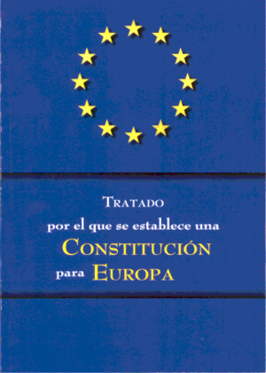 Spanish European Constitution referendum, 2005 - Front cover of an edition of the constitutional treaty published and distributed for free by the Spanish government