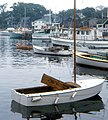 Early Morning Boats in Rockport, MA 1968 (6473435909).jpg