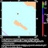 震央付近の地図