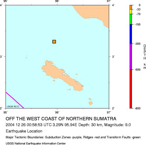 Earthquake 20041226 epicentre