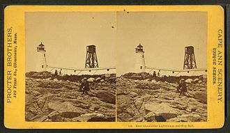 Annisquam Harbor Light - The second Annisquam Harbor Light which was replaced in 1897