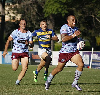 North Brisbane Rugby Club - Norths in possession against Easts (2016).