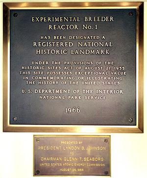 Experimental Breeder Reactor I - Image: Ebri plaques