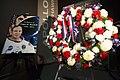Edgar Mitchell's memorial wreath in the Apollo Saturn V Center.jpg