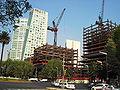 Edificios en construcción y complejo Reforma 222, Ciudad de México.JPG