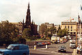 Edinburgh, Waverley Bridge, September 1992.jpg