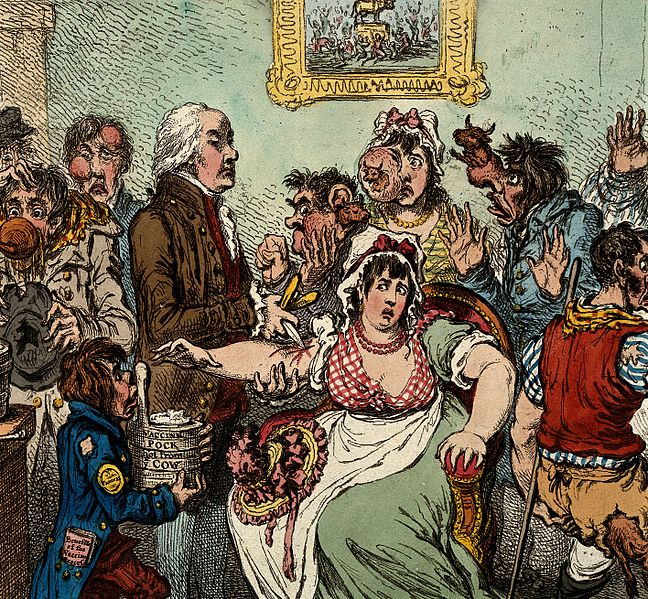 File:Edward Jenner among patients in the Smallpox and Wellcome V0011070.jpg