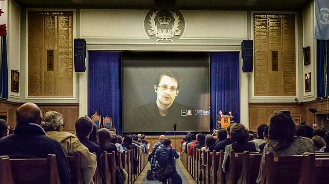 Edward Snowden at Upper Canada College, World Affairs Conference 2015