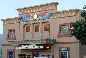 Delta, Colorado - The historic Egyptian Theatre on Main Street