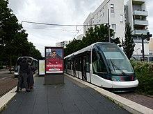 Eindpunt tramlijn B halte Lingolsheim Tiergaertelin in Strasbourg 2021.jpg