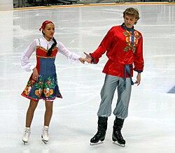 Ekaterina Riazanova Ilia Tkachenko 2009 Rostelecom Cup.JPG