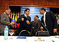 El Canciller Falconí acompaña al Presidente Correa en la Reunión Extraordinaria de Jefes de Estado de la UNASUR (3865372486).jpg