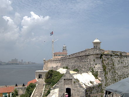El Morro fortress in Havana, stormed by the British in July 1762 El Morro.jpg