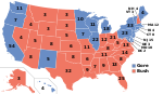 Electoral map, 2000 election