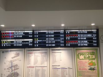Hakata Station - LCD departure board of Hakata Station