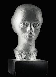Elinborg Lützen, bust by Janus Kamban.
