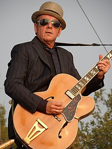 Costello performing at the 2012 Riot Fest in Chicago
