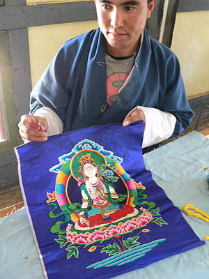 Embroidery, School of Traditional Arts, Thimphu