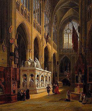 Emile Pierre Joseph De Cauwer - Mausoleum of King Louis XII and Anne of Britanny in the Church of Saint-Denis, Saint-Denis (France), 1867