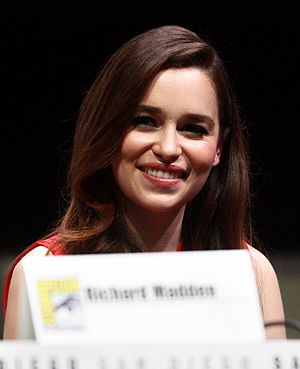 Emilia Clarke - Clarke speaking at Comic-Con International in 2013