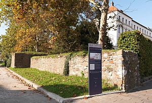 Slovenia - Roman Emona's south wall (reconstruction) in present-day Ljubljana