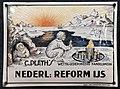 Enamel advertising sign, Nederlands Reform IJs, C Plath's, Koninklijke Enailleerfabrieken, Posta, Amsterdam.JPG