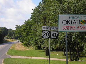 Arkansas Highway 43 - Northern end of Arkansas 43/Eastern end of Oklahoma 20