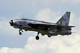 English Electric Lightning - Lightning F.3 on approach
