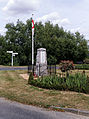 English flag and war memorial Henham Essex England.jpg
