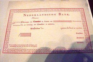 Joan Michaël Fleischman - Image: Enschedé Banknote roodborstje with music font on edges