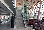 Entrance stairs of ZBAA T3E Cathay Pacific lounge (20180823112232).jpg