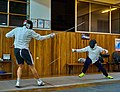 Epee fencers at Athenaikos fencing club.jpg