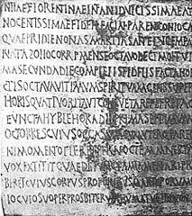 épitaphe de Julia Florentina