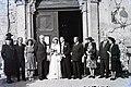 Esküvői csoportkép, 1946 Budapest. Fortepan 104687.jpg